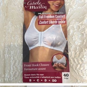 Silky shaper bra that closes in the front